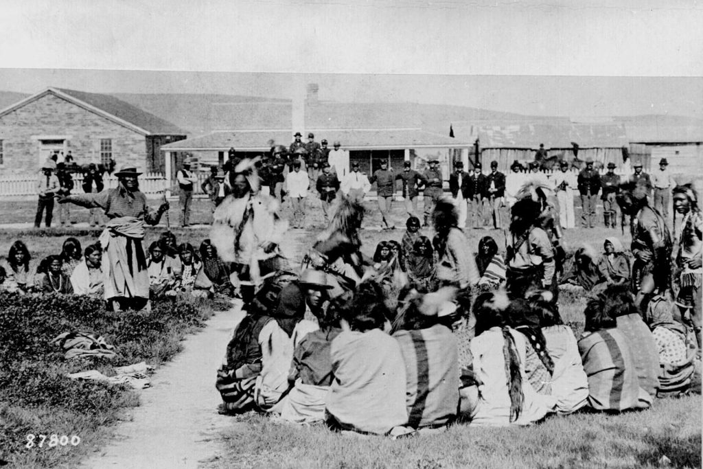 In 1892, the Indian Shoshone were embarrassed in the reserve